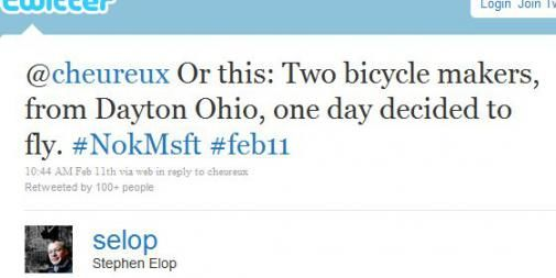 2011feb12 KA DC Stephen Elop tweet1