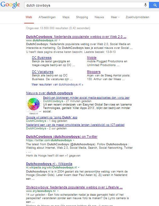2013okt09 Googlesearch dutch cowboys met Disconnect