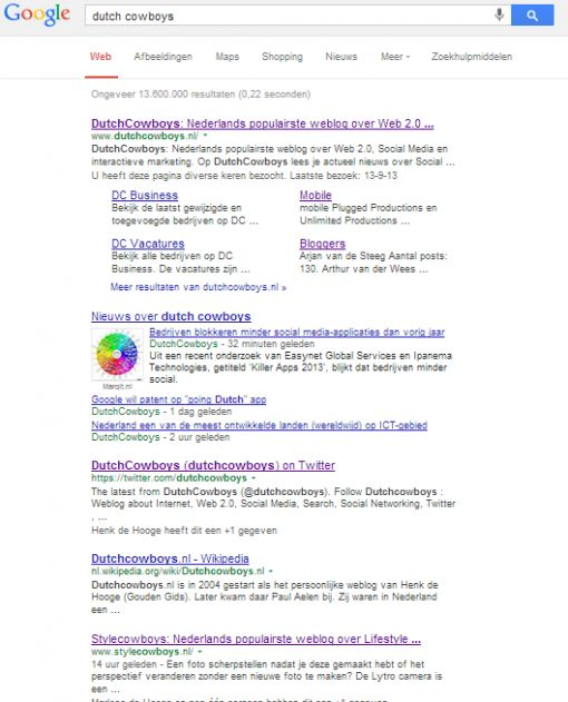2013okt09 Googlesearch dutch cowboys zonder Disconnect1