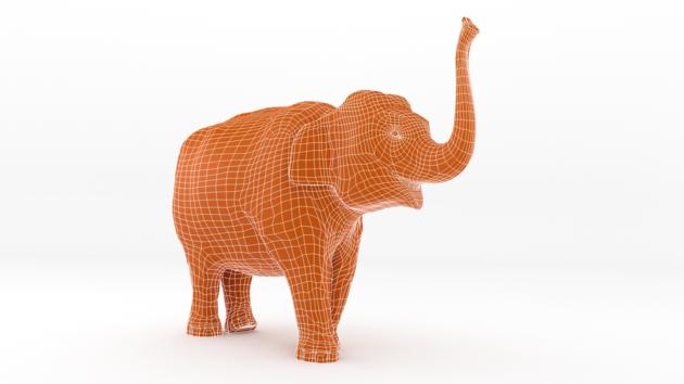 3D olifant World Animal Protection