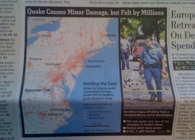 40.000 tweets in de eerste minuut na aardbeving VS