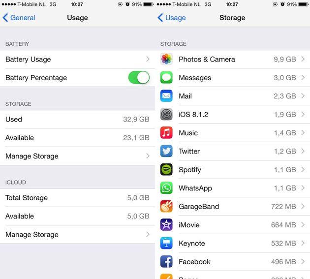 7 manieren om meer ruimte op je iphone te krijgen - 1