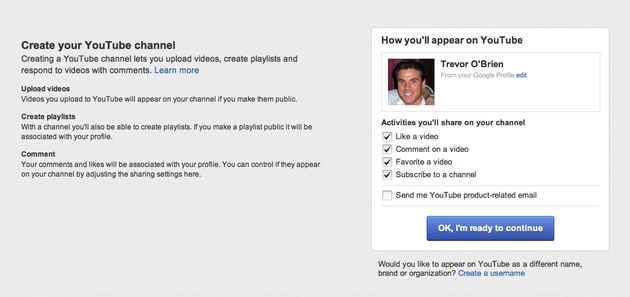 Aanmelden voor een YouTubekanaal met een Google+ profiel