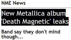 Album Metallica lekt uit