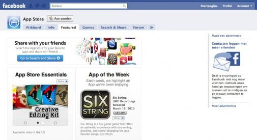 App Store krijgt eigen Facebook pagina