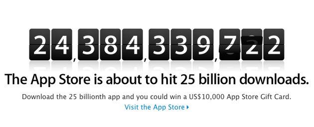Apple App Store onderweg naar 25 miljard downloads