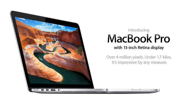 """Apple kondigt nieuwe MacBook Pro 13"""" aan: Dunner, Retina display en per direct verkrijgbaar"""