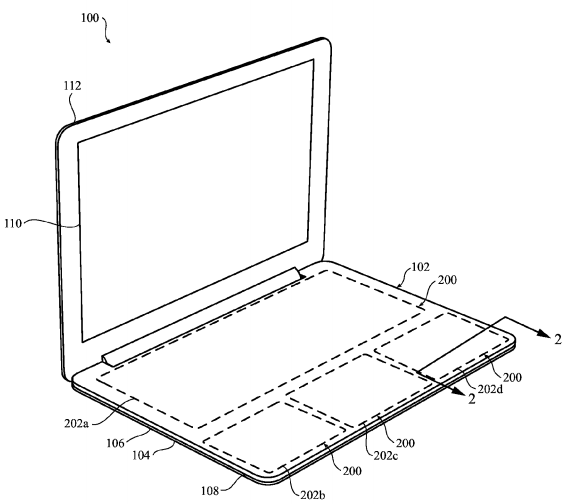 Apple macbook patent