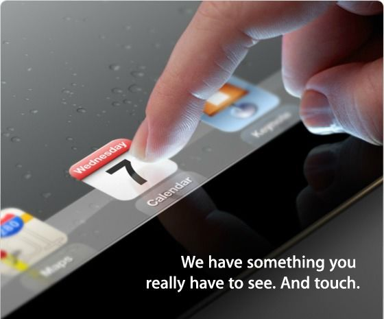 Apple: We have something you really have to see. And touch!