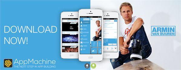 Armin van Buuren maakt app met Nederlandse startup AppMachine