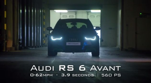 Audi RS6 Avant Man vs Machine