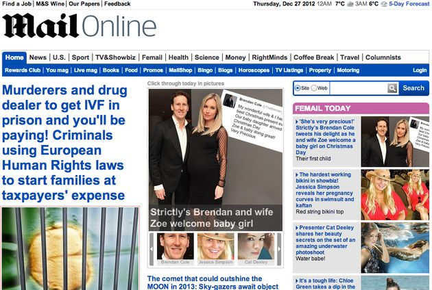 Best gelezen online krant is Mail Online