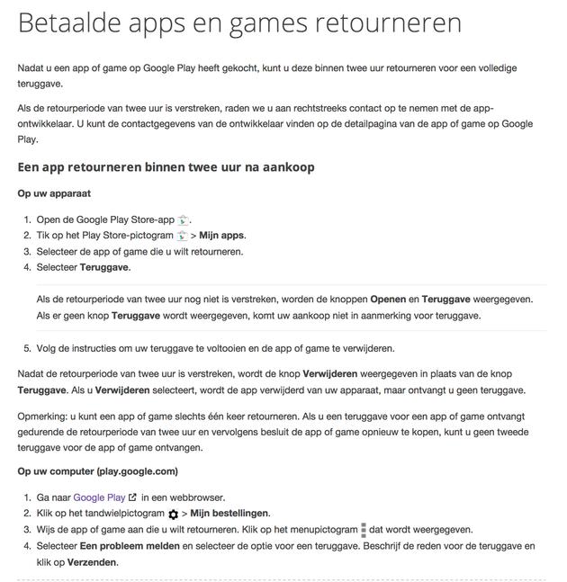 betaalde-apps-retourneren