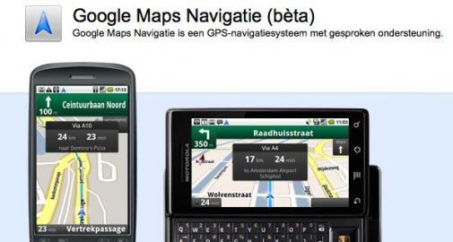 Bètaversie Google Maps Navigatie in Nederland
