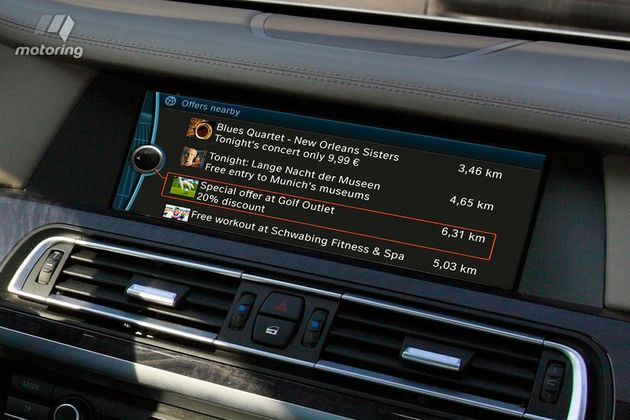 BMW gaat testen met in-car-advertising