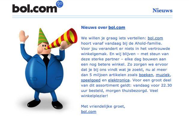 Bol.com overgenomen door Ahold