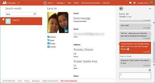 Chatten met je Google-contacten via Outlook.com