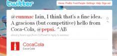 Coca Cola en Pepsi zijn eindelijk vrienden (op Twitter)