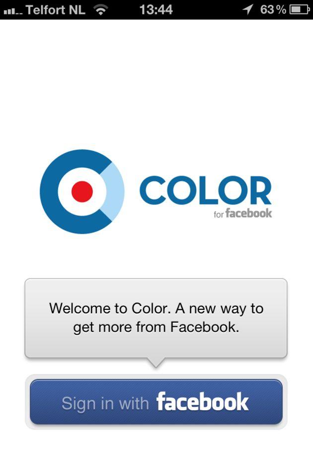 Color for Facebook: 30s live zijn voor al je vrienden.
