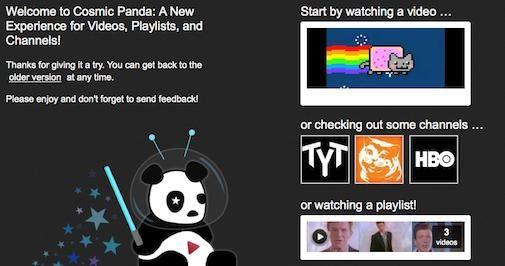 Cosmic Panda, nieuw design voor Youtube, feedback gevraagd!