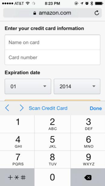 Creditcard gegevens invoeren is verleden tijd met Safari in iOS 8