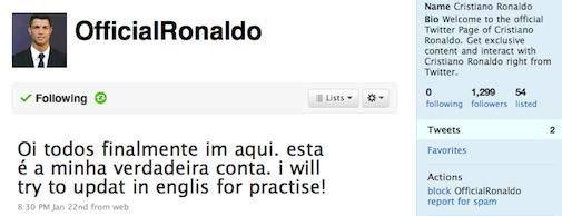 Cristiano Ronaldo gaat Twitteren