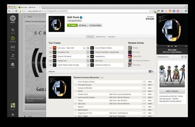 Daft Punk verbreekt record op Spotify