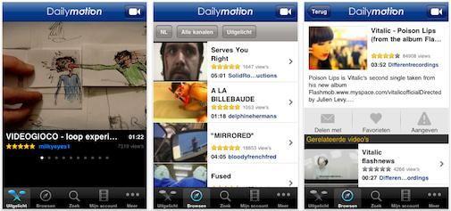 Dailymotion komt met 2 iPhone applicaties