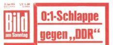 DDR - BRD door een man nagespeeld