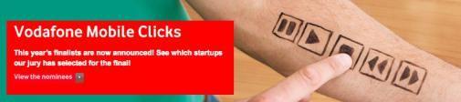 De finalisten van Vodafone Mobile Clicks, stem op jouw favoriet