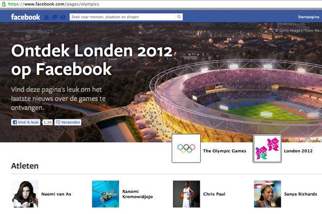 De Olympisch Spelen op Facebook