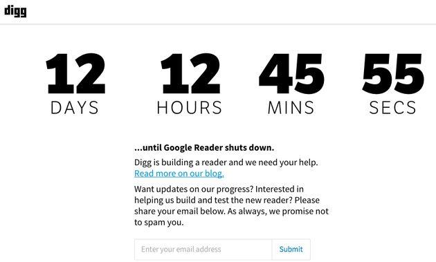 Digg Reader vanaf 26 juni beschikbaar!