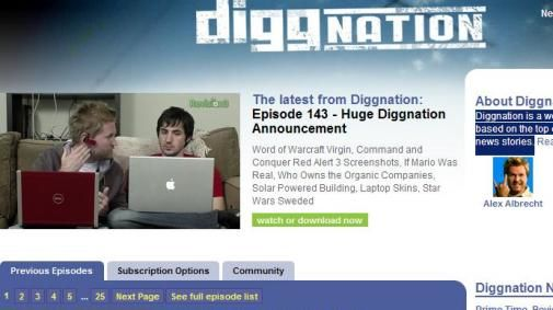 DIGGnation social networking-show vanaf NextWeb 3 april