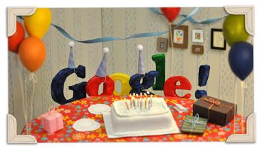 Doodle: 13 jaar Google