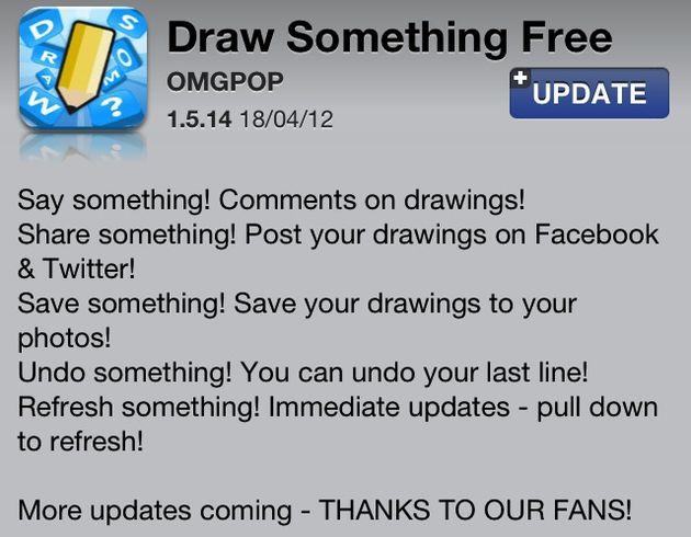 Draw Something update is nu beschikbaar