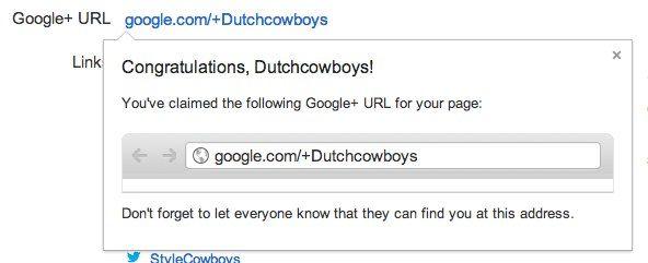 DutchCowboys krijgt eigen Google+ Vanity URL