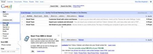 Een lege inbox voor zo'n 150.000 Gmail gebruikers
