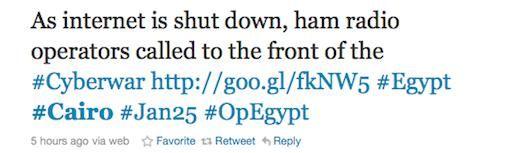 Egypte vrijwel volledig offline