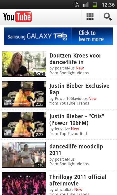 Exclusief adverteren op mobiele versie van YouTube