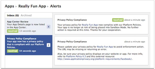 Facebook komt met Developer Alerts