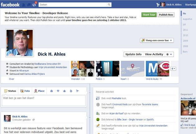 Facebook's nieuwe TimeLine en Privacy