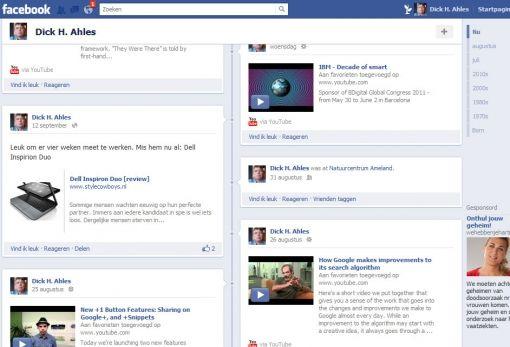 Facebook timeline 2011