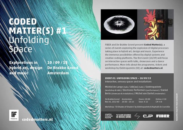 FIBER presenteert Coded Matter(s) #1; Verkenningen in hybride kunst, design en muziek
