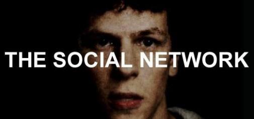 Filmposter 'The Social Network' het verhaal over Facebook