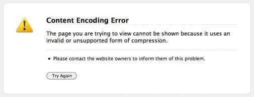 Firefox : Content Encoding Error : #durftevragen