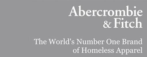 #FitchTheHomeless: Abercrombie & Fitch niet voor dikkerds, wel voor daklozen