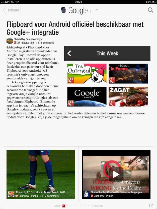 Flipboard beschikbaar in het Nederlands en ook iOS krijgt Google+ integratie