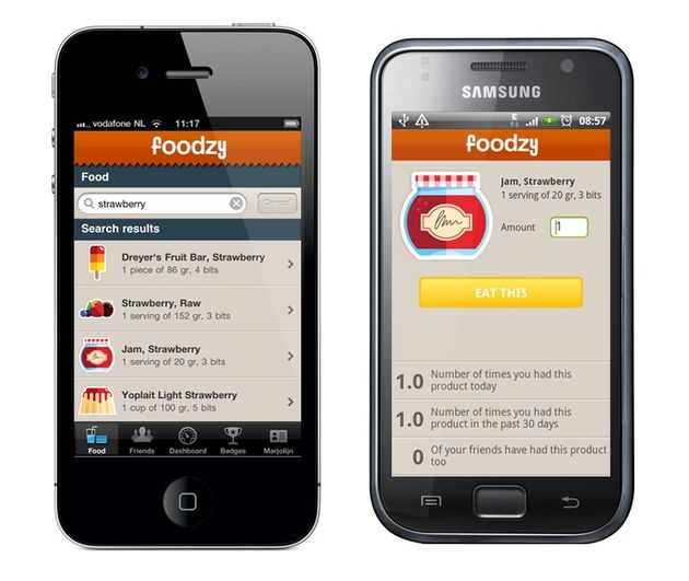 Foodzy lanceert iPhone en Android app