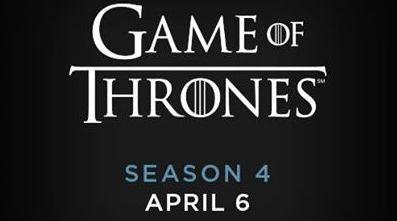 Game of Thrones seizoen 4 start op 6 april