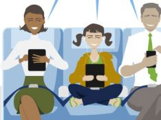 Goedkeuring van Europese Commissie voor 3G/4G in vliegtuigen